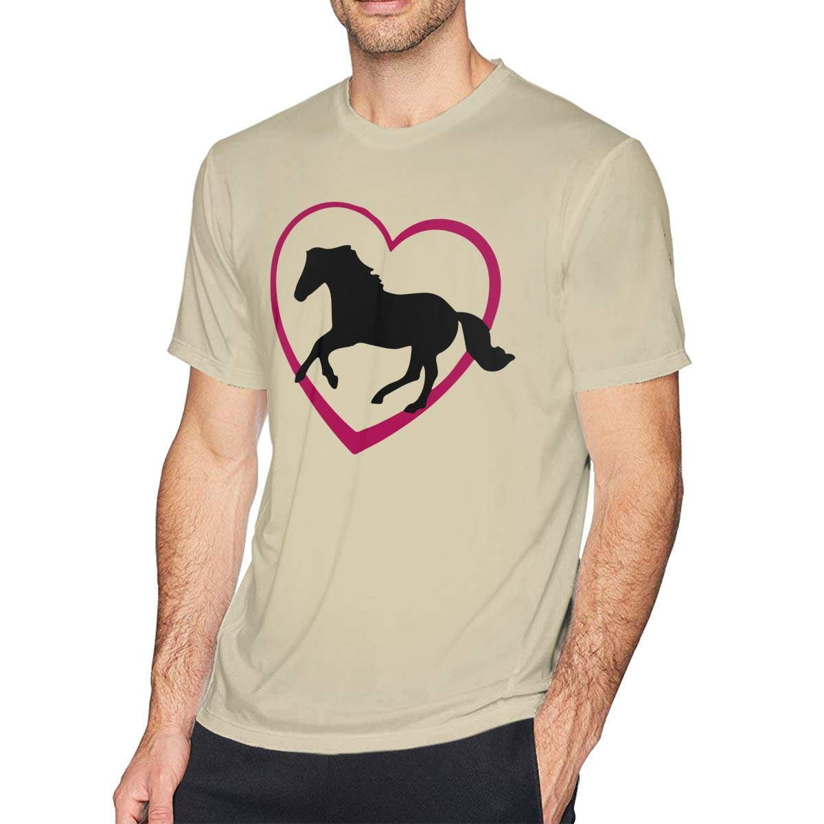 Horse Novelty T-Shirt Adult Soft Short Sleeves T-Shirts T Shirts Plus Size