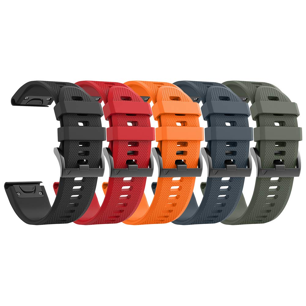 ANCOOL Compatible Fenix 5X Bands Easy Fit 26mm Soft Silicone Replacement Watch Bands for Garmin Fenix 3HR/Fenix 5X/Fenix 3 Smartwatch