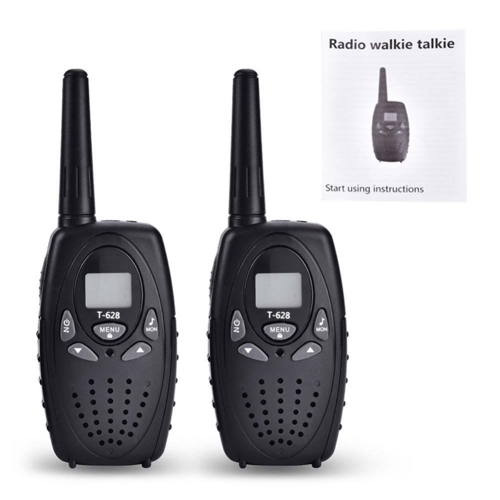 VGEBY 1 Pair Walkie Talkie, Professional Long Range 22 Channels Wireless Interphone Two Way Radio With Clips and Manual(Black)