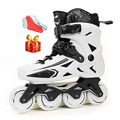 Sljj Inline Skates, 88A Wheel Professional White Speed Roller Skates for Adult Beginner Boys Girls Black (Color : White, Size : 42 EU): Home & Kitchen