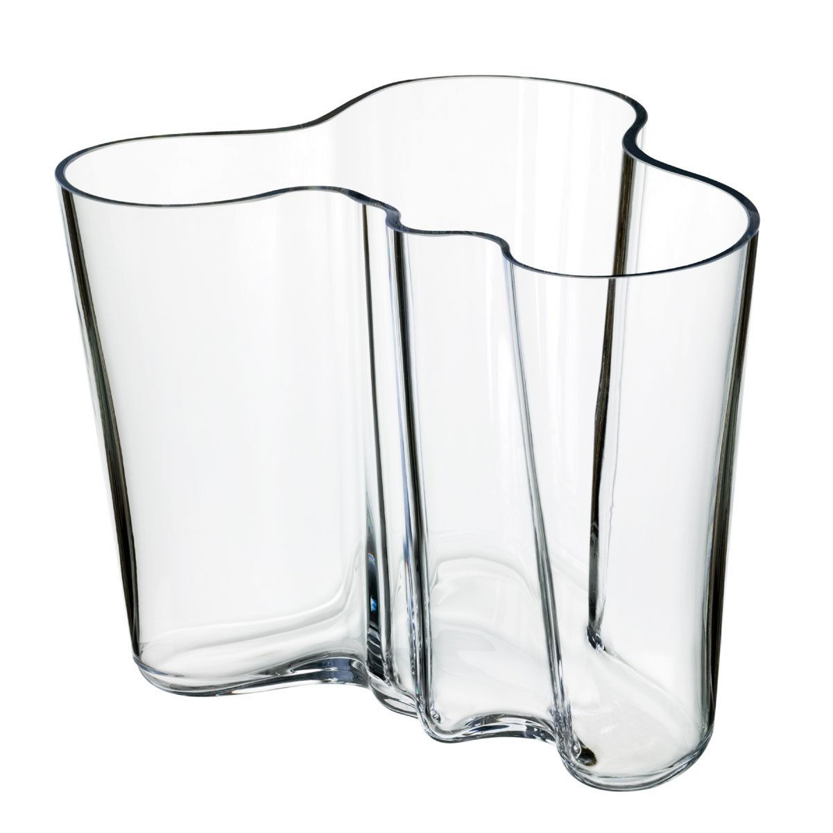 amazoncom iittala aalto inch glass vase home  kitchen - iittala aalto vase clear large
