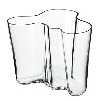 amazoncom iittala aalto vase clear large home kitchen - Aalto Vase