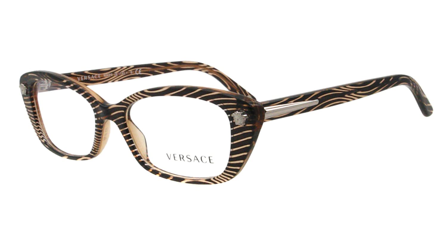 f739a587209b Versace Eyeglasses VE 3159 BROWN 934 51MM VE3159  Amazon.co.uk  Clothing