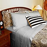 DTY Bedding Luxuriously Soft & Comfortable 4-Piece Tencel Lyocell Sheet Set, Made from 100% Eucalyptus Fiber, Hypoallergenic & Lightweight - King, Dove Gray