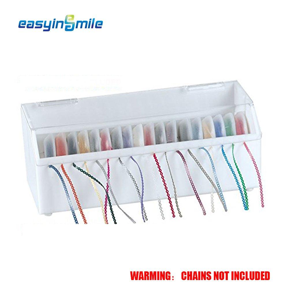 Easyinsmile Power Chain Organizer Case Dental Orthodontic Elastic Rubber Band Dispenser with Lid