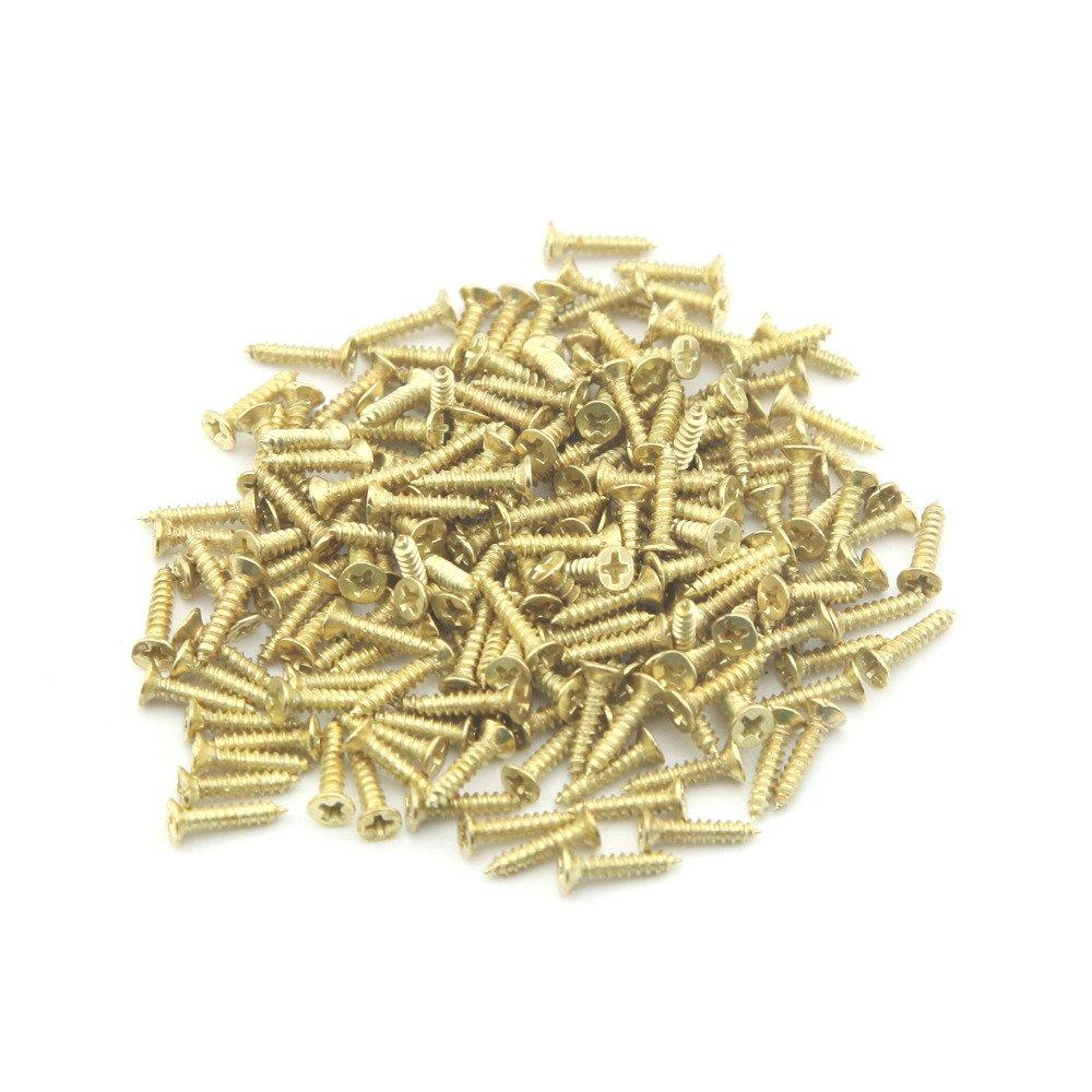 8mm//0.09x0.31 500PCS Wholesale Petites Vis pour la production du bricolage et des vis /à t/ête plate de petite charni/ère dor 2.5