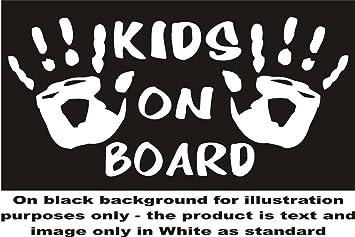 Kinder Kind Kids Hands On Board Schild Aufkleber Autoaufkleber Sticker Aufkleber Für Fenster Je Ca 7 5 X 13 97 Cm Weiß Versand Als Standard Auto