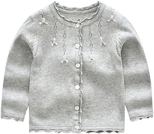 XIAOHAWANG Baby Sweater Boys Girls Cardigan Toddler Knit Coats Toddler Warm Outerwear Spring Autumn