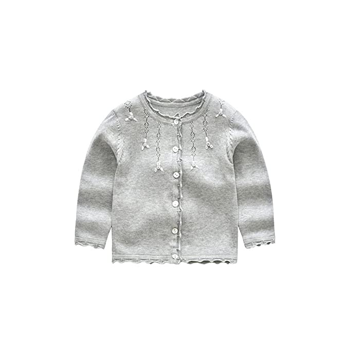 e784aca48 Amazon.com  XIAOHAWANG Knitted Baby Girls Cardigan Toddler Button up ...