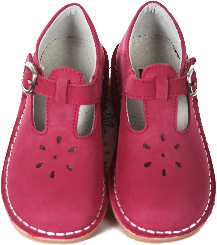 L'Amour T-Strap Fuchsia Pink Nubuck