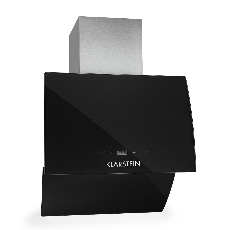 Klarstein RGL60BL • Campana extractora • Extractor • Extractor de pared • Aspiración/Ventilación • 3 Niveles • Potencia 600 m³/h • Frontal de cristal • LED ...