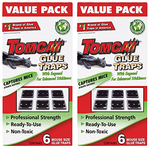 Tomcat Mouse YOOmD Size Glue Traps, 6 Pack (2 Pack)
