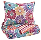 Signature Design by Ashley Q345001T Alexei 2 Piece Quilt Set, Twin, Multicolor