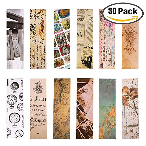 Vintage Style Bookmarks For Women Men  30Pcs  Retro Collection