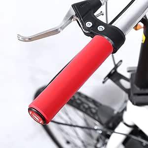 Haofy Puños de Bicicleta, 1 par de Puños para Bicicleta Mango de Silicona para Manillar, Agarre Manillar de Ciclo, BMX, MTB, Bicicleta de Carreras (Rojo): Amazon.es: Deportes y aire libre