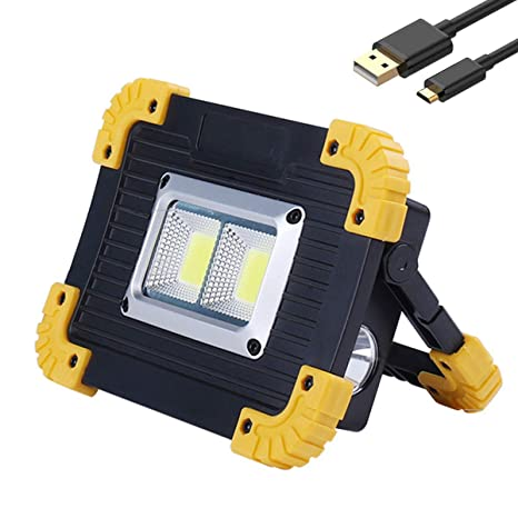 Luz de trabajo led Proyector portátil Linterna USB Recargable Led ...