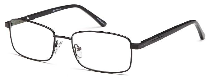 7eb117eed3d8 Unisex Rectangular Glasses Frames Black Prescription Eyeglasses Rxable  54-18-140