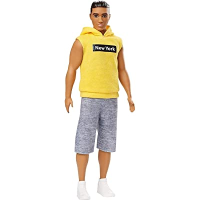 "Barbie Ken Fashionistas Doll with ""New York"" Hoodie: Toys & Games"