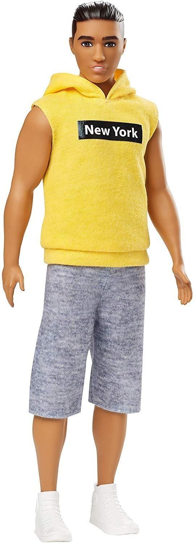 Barbie GDV14 Ken Fashionistas Doll with New York Hoodie