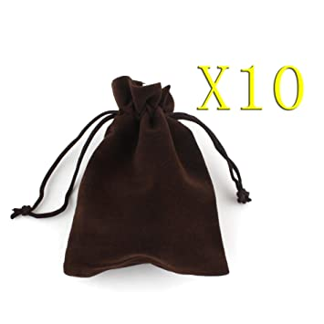 Amazon.com: 10pcs Fashion Jewelry Cordón de terciopelo bolsa ...