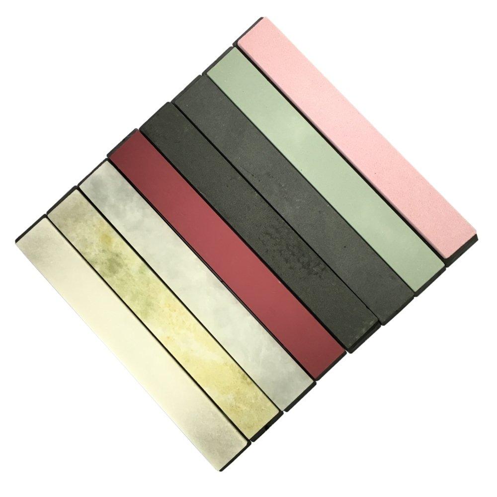 Set of 8 Knife Sharpener Stone Polishing Whetstone Oilstone With Base 240-10000#