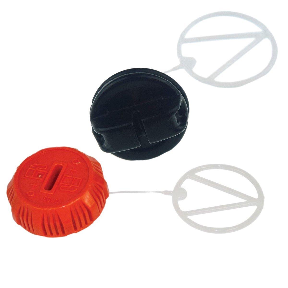 Genuine Echo P021036960 + P021007630 Set of Oil + Gas Cap Fits CS-370 CS-370F CS-400 CS-420ES CS-450 CS-450P CS-530 Chainsaws by Chainsaws Parts