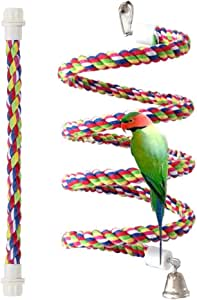 (110cm long) - Bird Perch, Rope Bungee Bird Toy