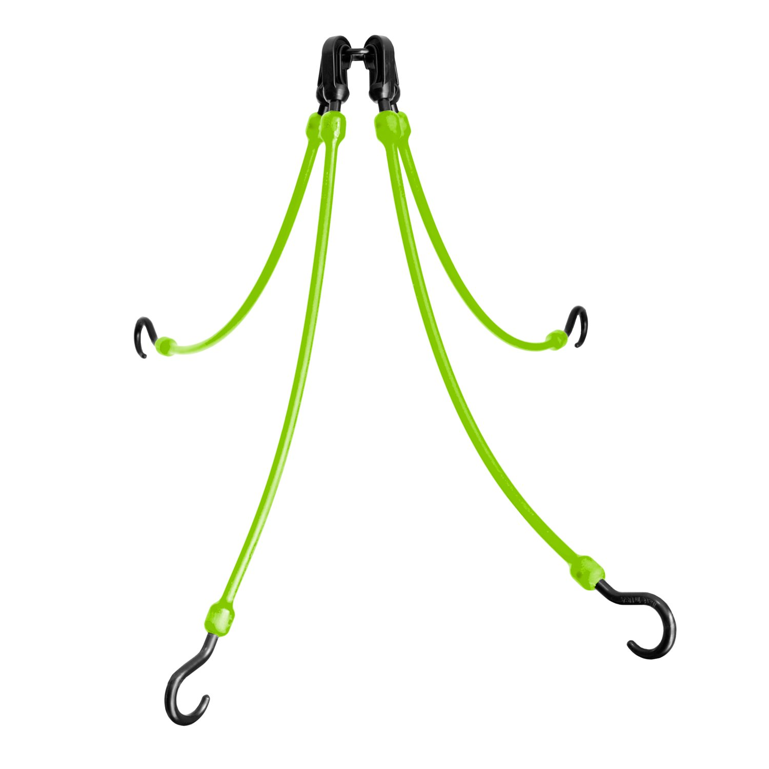 The Perfect Bungee by BihlerFlex FW18-4G 4-Arm Flex-Web Bungee Cords 4, 18''-36'', Safety Green