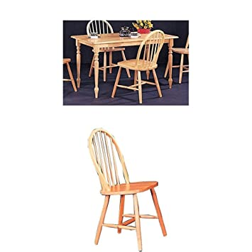 Coaster 5 Pc Butcher Block Farm Dining Room Set With Dining Table And 4  Chairs