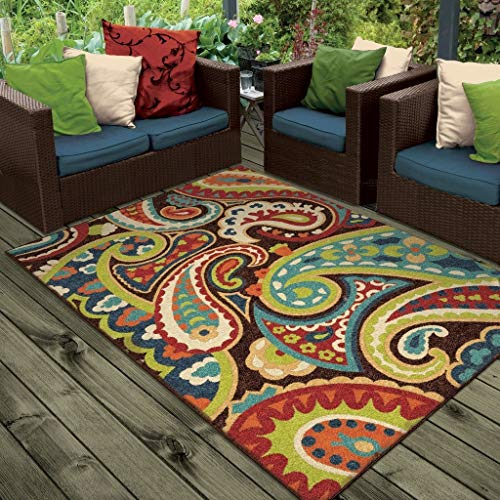 Orian Rugs Indoor/Outdoor Paisley Monteray Multi Area Rug (3'10