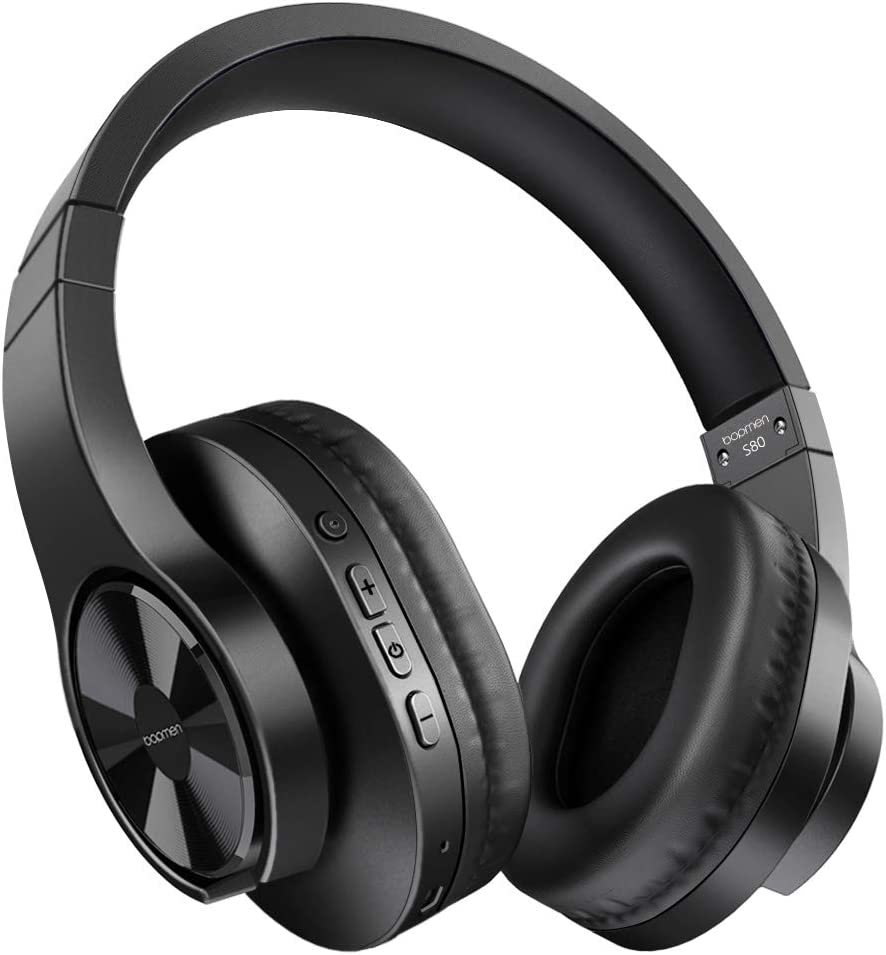 Amazon Com Bopmen S80 Bluetooth Over Ear Headphones Wireless And Wired Headphones With Deep Bass Headset Comfortable Ear Cups Built In Microphone For Phone Ipad Pc Laptop Notebook Music