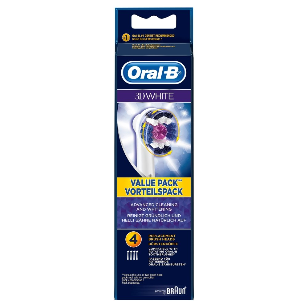 Oral-B ORAEB18B4 3D White Brush Heads: Amazon.co.uk: Health ...