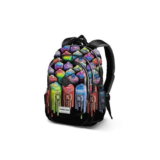 PRO-DG Mochila chico bolsa de ocio escolar negro colors USB port VZ897: Amazon.es: Ropa y accesorios