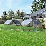 PawHut 24' Chicken Coop Galvanized Metal Hen House