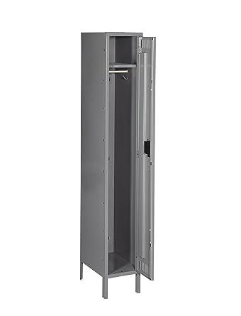 Amazon Com Tennsco Sts 121872 1 Heavy Gauge Steel Single Tier Locker 12 Width X 72 Height X 18 Depth 1 Wide Medium Gray Industrial Scientific