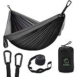Grassman Camping Hammock Double & Single Portable Hammock with Tree Straps, Lightweight Nylon Parachute Hammocks Camping…