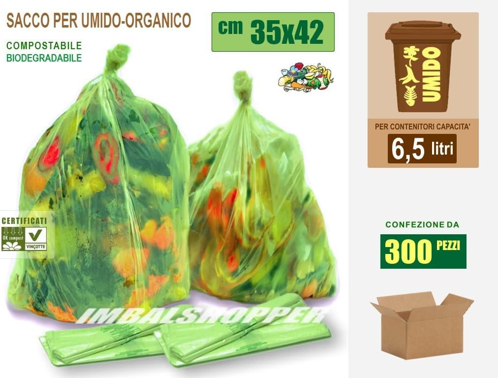 Bolsas para basura orgánica biodegradables y compostables, 35 x 42 ...