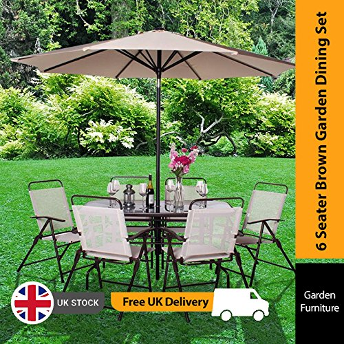 6 Seater Garden Table and Chairs: Amazon.co.uk