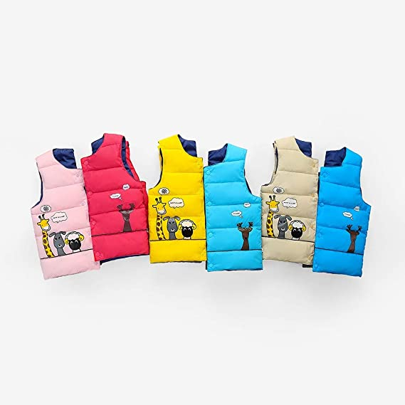 Amazon.com: Cute Windproof Winter Vest For Childrens Kids Baby Girls Boy Sleeveless Animal Print Warm Jacket Waistcoat Tops (age:3-4years old, ...