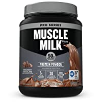 Muscle Milk Pro Series Protein Powder, Knockout Chocolate, 50g Protein, 2.47 Pound...