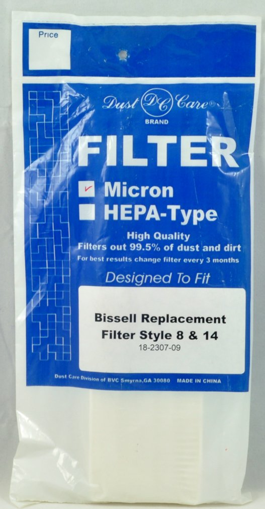 Bissell Upright Vacuum Cleaner Style 8 & 14 Micron Filter