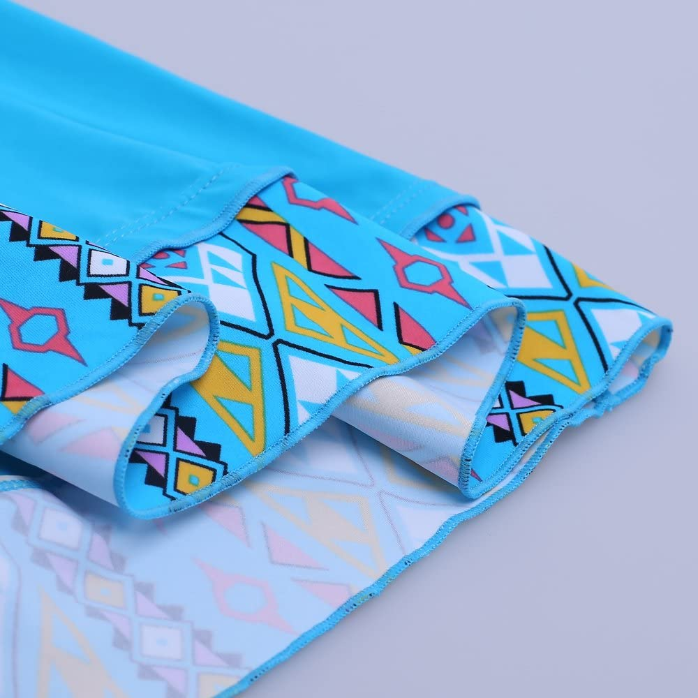LALAGEN Womens Plus Size Two Pieces Tankini Swimdress Tribal Print Swimwear