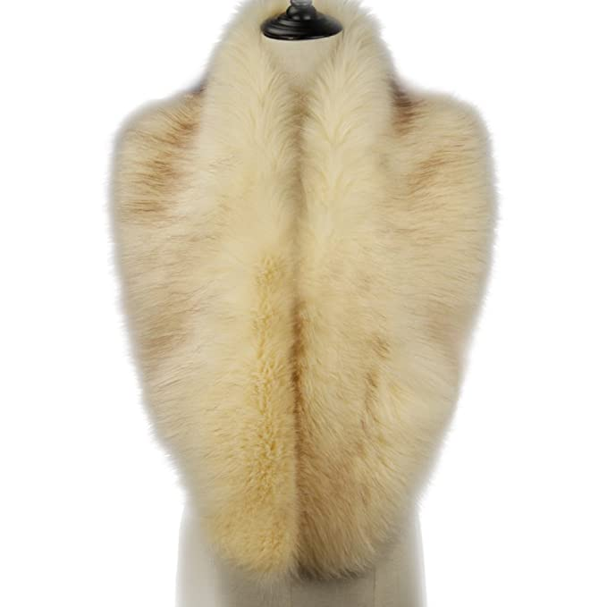 Vintage Scarf Styles -1920s to 1960s Dikoaina Extra Large Womens Faux Fur Collar for Winter Coat $19.99 AT vintagedancer.com