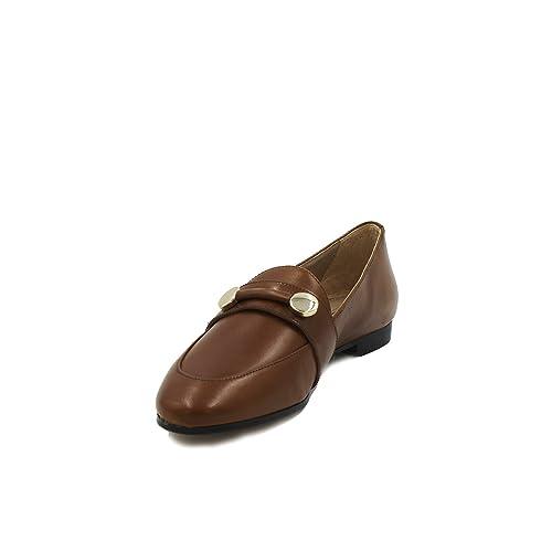Massimo Dutti - Mocasines de Piel para Mujer Marrón Marrón Marrón Size: 38 EU: Amazon.es: Zapatos y complementos