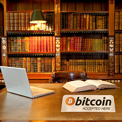 Stainless Steel Bitcoin Accepted Sign | Limited Edition We Accept Bitcoin BTC | Blockchain Technology | Great Gift or Souvenir for 2018 | Pair with Bitcoin accepted shirt or other BTC accessories |