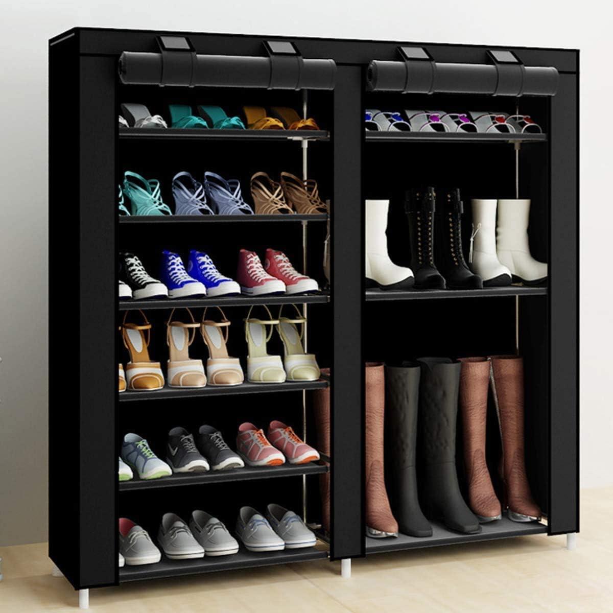 Shoe Rack Now free shipping Storage Organizer Detroit Mall Astoryou 7 Tier Double Row Sta Free