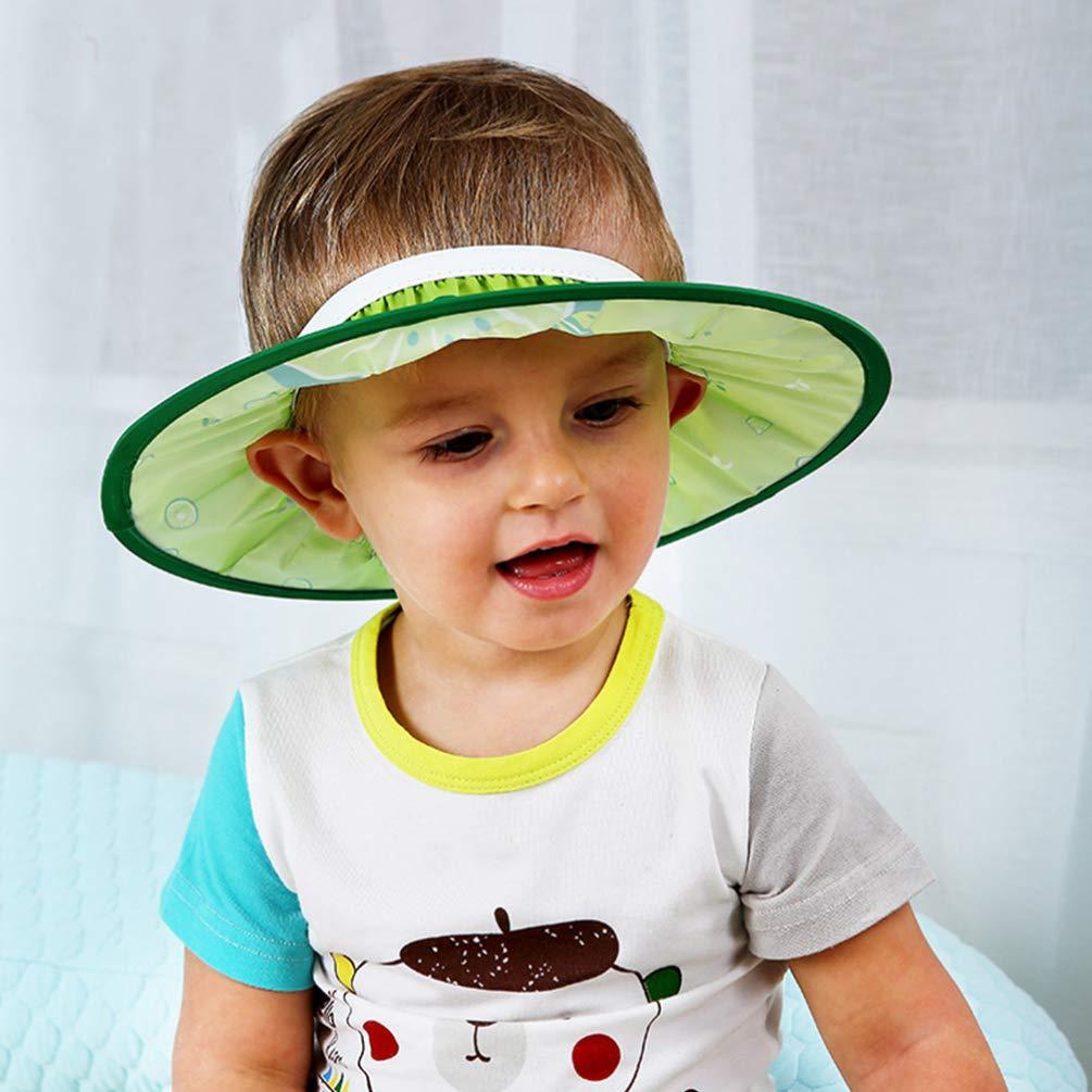 SUPVOX Bath shampoo shower visor protection safe soft cap for toddlers baby children