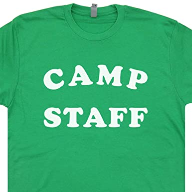 6e246186a0e2 S - Camp Staff T Shirt Funny Vintage Camping Tee Summer Band Camper Crystal  Lake Men