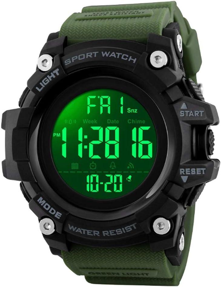 LCNINGZNSB EX16Plus 5TAM Smartwatch Impermeable Camuflaje Bluetooth Reloj Inteligente Reloj Despertador Todo el día Rastreador de Actividad Relojes de Fitness Hombres (Color : Verde)