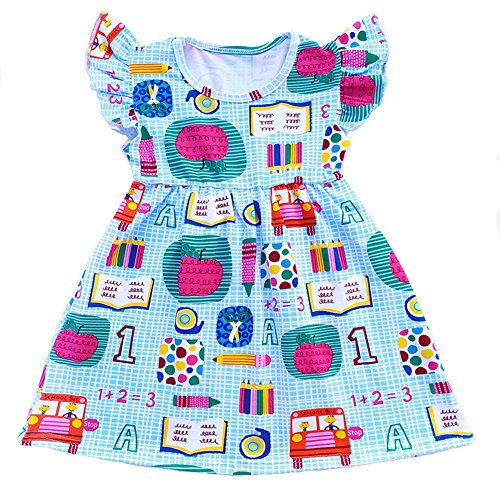 The Back To School - Toddler Girls Apple Printed Back to